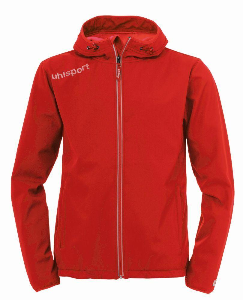 Uhlsport Uhlsport Uhlsport Fußball Essential Softshelljacke Kinder Jacke mit Kapuze rot e86766