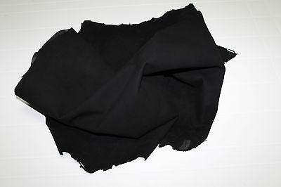 Italian Goatskin leather skins hides hide skin SUEDE BLACK 5+sqf