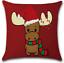 "18/"" Christmas Santa Claus Snowman Cushion Cover Zippered Square Pillow Case UK"