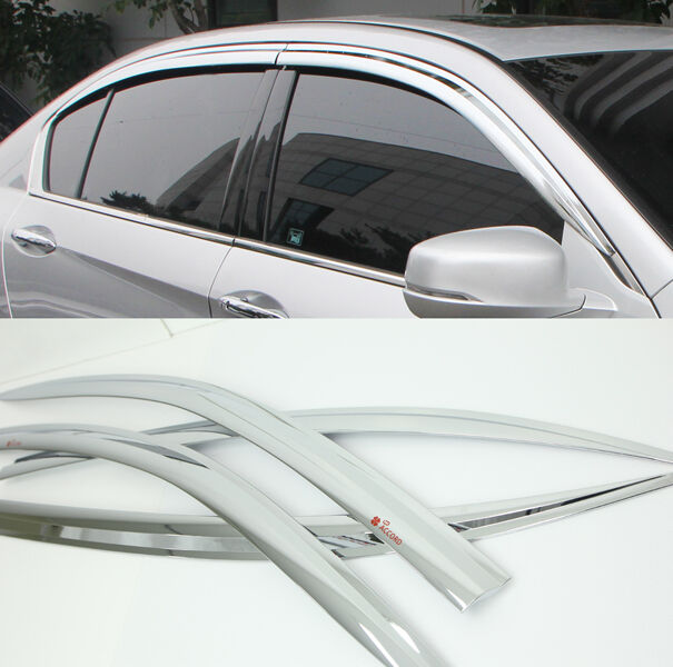 Buy Chrome Sun Shade Rain Guard Door Window Vent Visor for 12 Honda Accord  online  e729ffce1ce