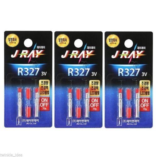 3 pack J-RAY R327 LED 3V PIN Type Lithium Battery to Night Fishing 6pcs