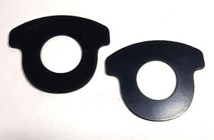 """Pair 1-1/2"""" flanged water meter gasket, EPDM Rubber, Drop-in Style 1/8"""" thick"""