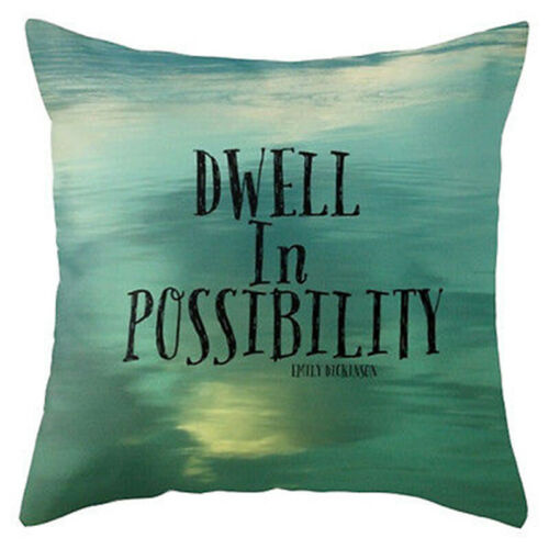 "18/"" Funny Words Pillow Case Cotton Linen Sofa Throw Cushion Cover Pillows Decor"