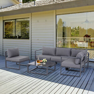 Outsunny 6pcs Outdoor Sectional Sofa