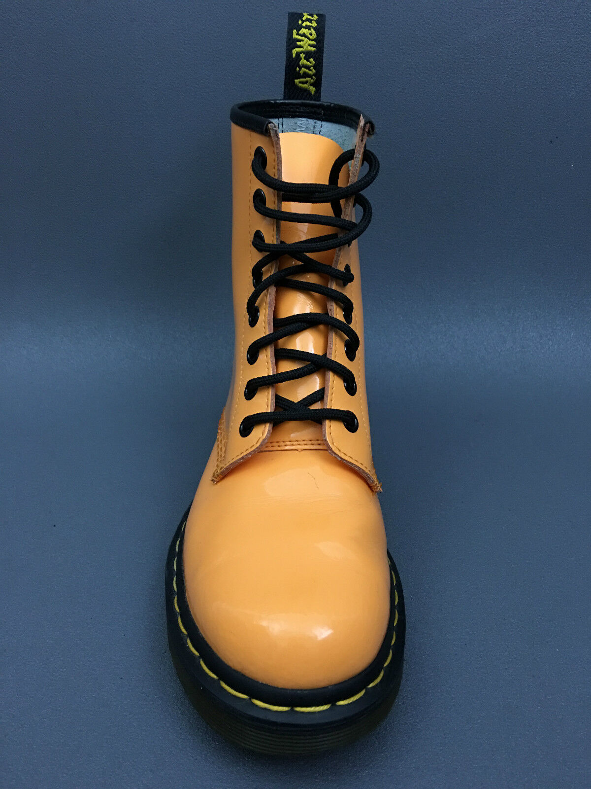 bf2f0a7671 Dr Martens Eight Eylets Orange Leather Casual Boot 7 US.EU 38 UK.5 ...