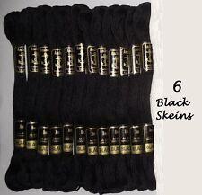 6 Anchor Cotone Punto Croce 8m Ricamo Filo Matasse Molti Base Colore Nero
