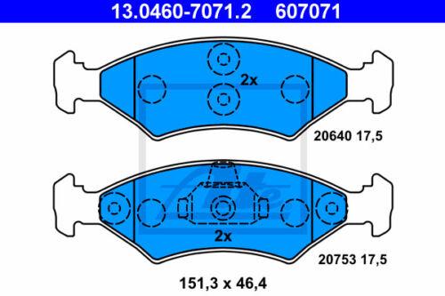 Garnitures Essieu avant UAT POWERDISC Disques De Frein JA /_, JB va pour Ford Fiesta IV