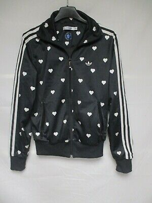 Veste ADIDAS rétro vintage noir coeur 40 years of the TREFOIL jacket 34 jacke | eBay