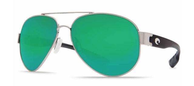 bbff1793a Costa Del Mar South Point so 21 Palladium Aviator Sunglasses Green 580g