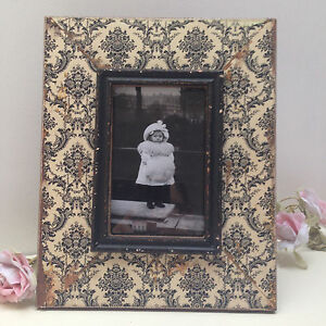 Rustic shabby chic photo frame wooden baroque distressed for Shabby chic frames diy
