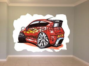 Huge Koolart Cartoon Citroen C4 Tuning Wall Sticker Poster Mural 2651