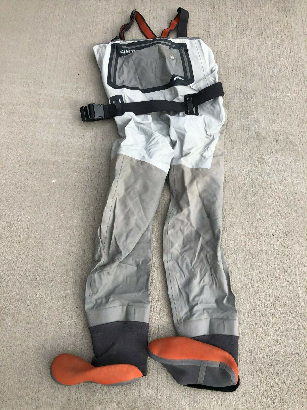 SIMMS G3 Stocrefoot Waders  grigiostone  Diuominiione gree  USED 2019O