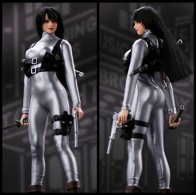 1//6 Scale Female Jumpsuit Bodysuit Women Clothes for 12/'/' Action Figure Doll