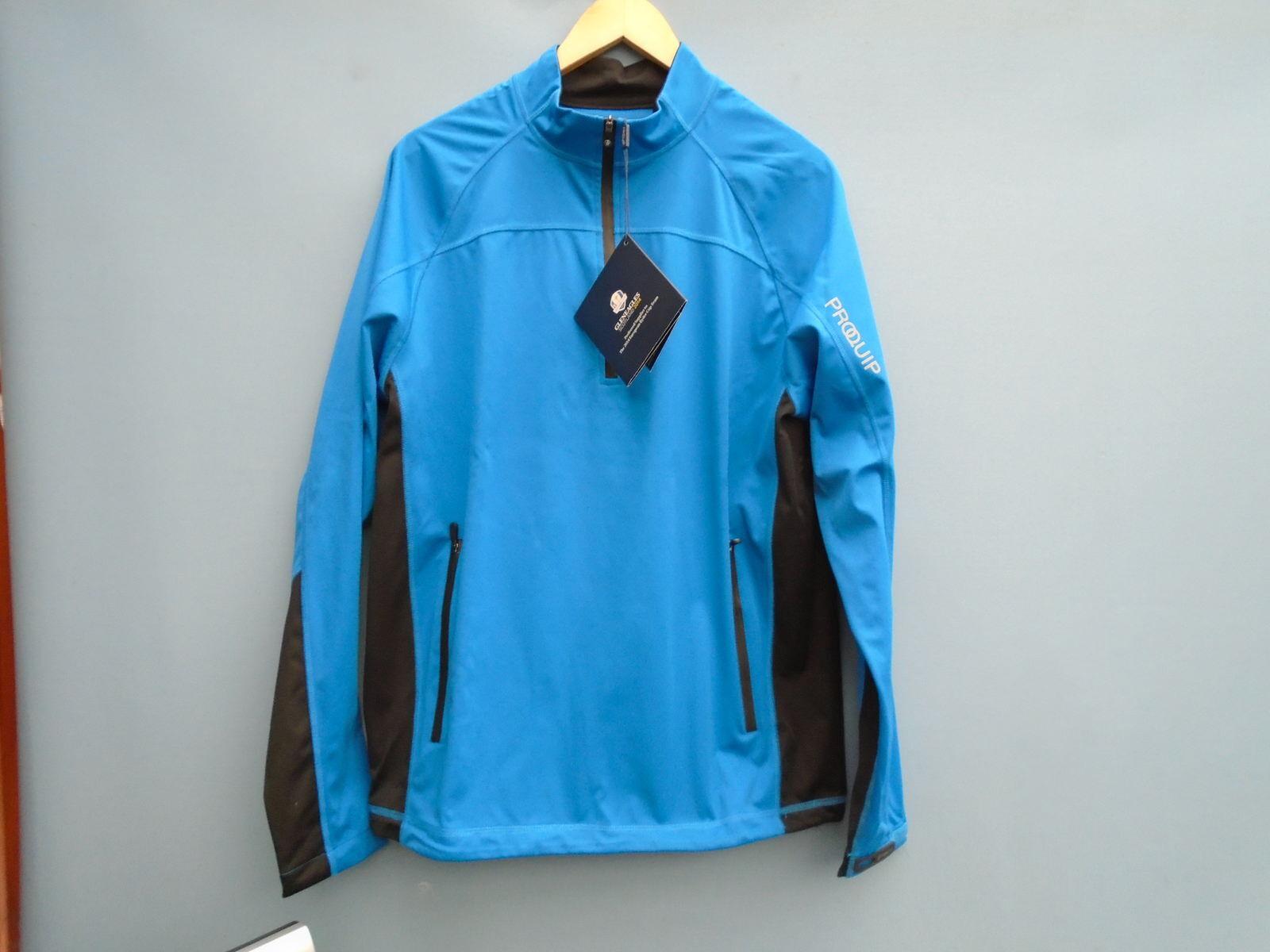 Nueva Chaqueta ProQuip 1 4 Zip Wind-Tamaño-X Grande-Color-brillante azul negro