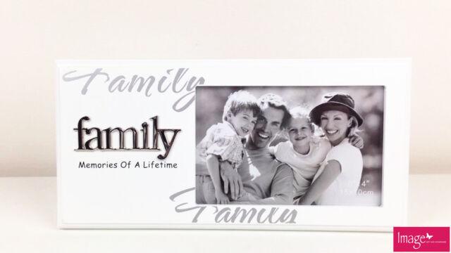 Family White Photo Frame 4x 6in (10x15cm) Aunty Sister Nan Mum Dad ...