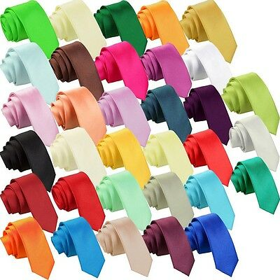 23Color Solid Plain Classic 100%New Silk Jacquard Women Neck tie Men's Wedding