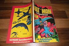 BATMAN Superband  # 1 -- ALLES ÜBER BATMAN // Plan der Bat-Höhle / 1. Aufl. 1974