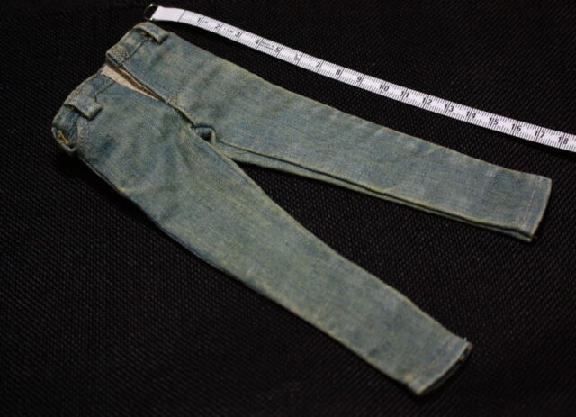 2x 1//6 Dark Blue Jeans Trousers Belt for 12/'/' DID DML Male Action Figure Toy