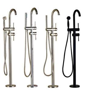 Floor Mount Free Standing Bathtub Faucet Brass Tub Filler