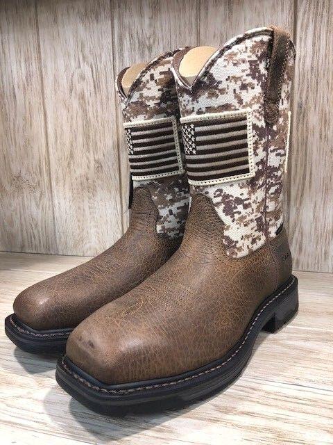 Ariat Men's Workhog Sand Camo Steel Square Toe Work Boot 10022968