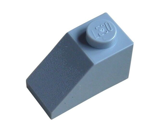 Lego 10 light bluish gray Slope 1x2 Roof Tiles (3040) 1 x 2 Lot of 10 parts New
