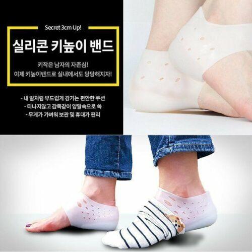 Sillicon 3cm Heel Lift Up Band Secret Inside Tall Beauty Fashion Height/_IU