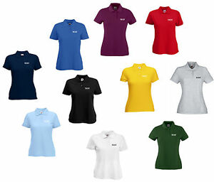 Personalised Lady Fit Polo Shirt Printed Women S Custom Work Club