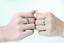Anello-Coppia-Fedine-Fidanzamento-Amicizia-Amore-Cuore-spezzato-Love-Fedi-Regalo miniatura 9