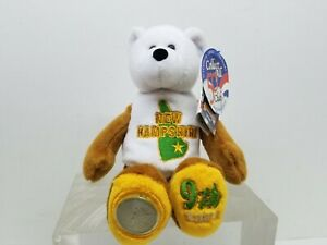 New-Hampshire-Limited-Treasures-Stuffed-Teddy-Bear-Coin-50-States-America-NWT
