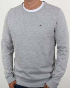 Tidssvarende Tommy Hilfiger Cotton Fleece Sweatshirt in Grey Heather - crew WY-04