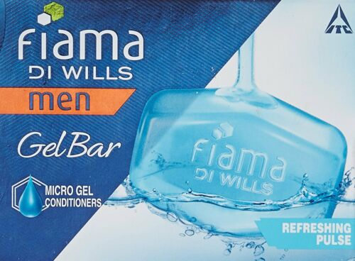 Fiama Di Wills Men Refreshing Pulse Gel Bar,125 gm x 3 Pack Free shipping world