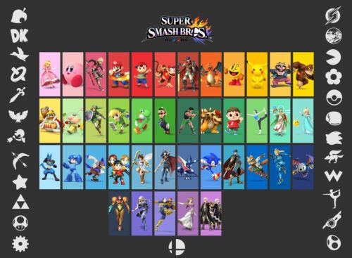 HUGE  Poster 34 inch  x 22 inch Super Smash Bro/'s Beautiful Fast Shipping