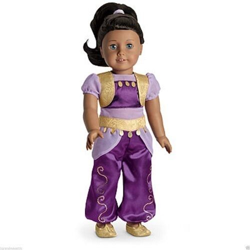 American Girl GENIE COSTUME retired jumpsuit shoes hairband charm V6041 NO DOLL