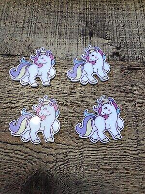 Unicorn Resin FlatBack x4 Cabochon Decoden Kawaii Craft Embellishment Scrapbook