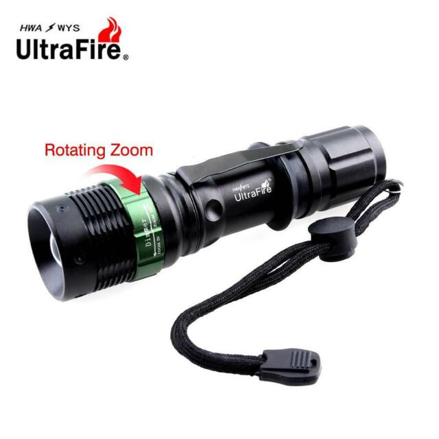 Ultrafire 8000 LM Zoomable  X-XML T6 LED Flashlight 18650 AAA Battery Torch DA