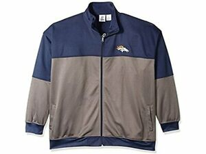 Denver-Broncos-NFL-Men-039-s-Poly-Fleece-Track-Full-Zip-Jacket-3XL-NWT