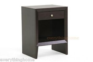 NELSON-ACCENT-SIDE-END-TABLE-NIGHTSTAND-MODERN-BROWN-WOOD-SINGLE-DRAWER-SHELF