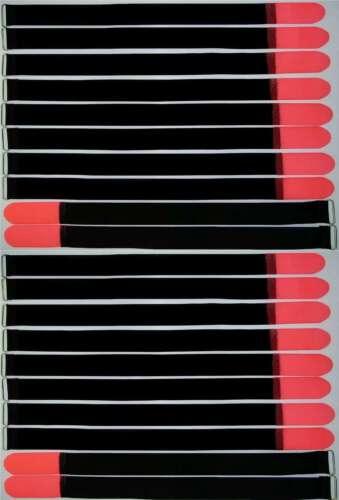 20 velcro bridas 800 x 50 mm neonrot cable cinta de velcro cable velcro cinta de velcro ojal