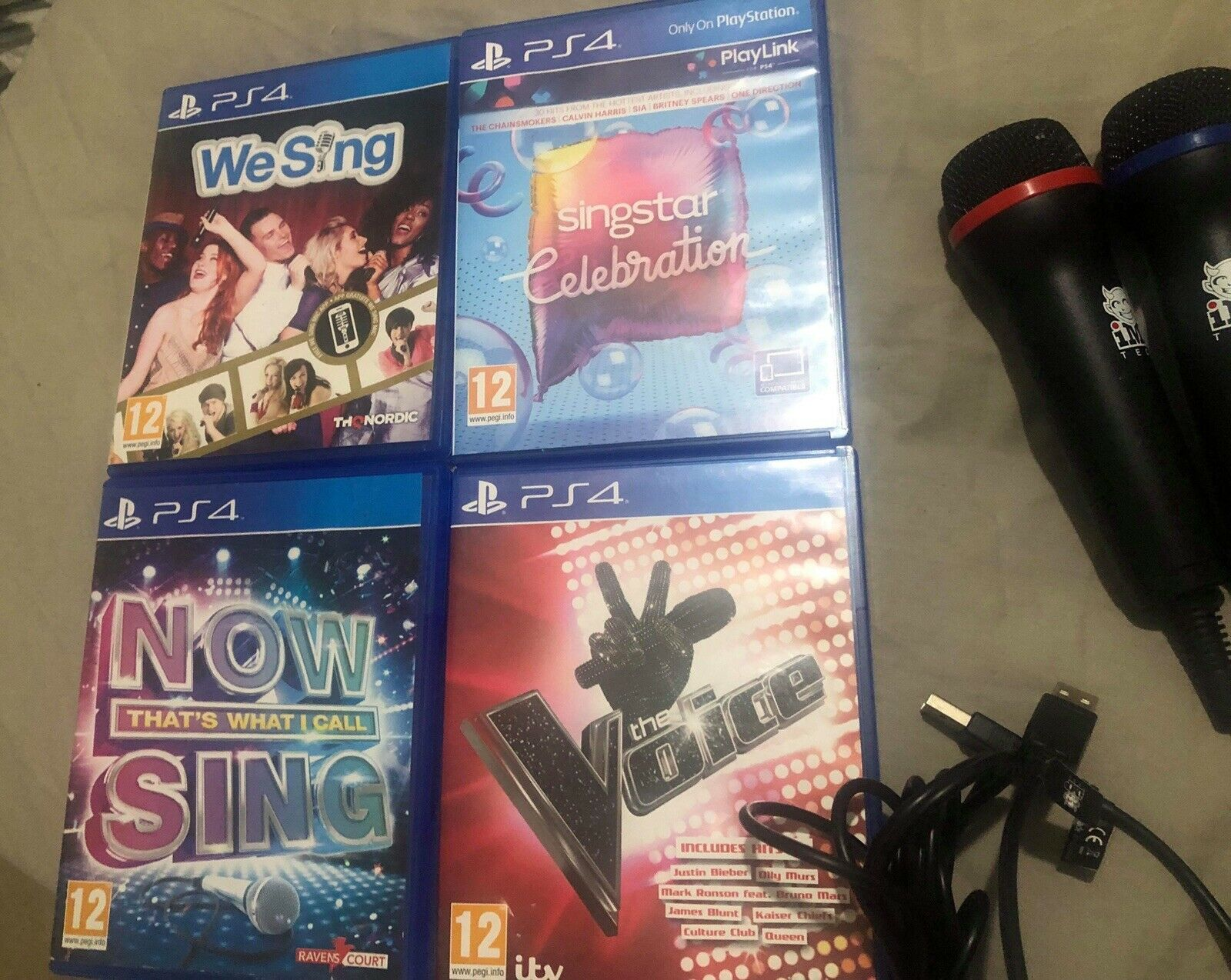 PS4 Mics Singing Family Multiplayer Bundle Now Sing We Sing Sing star The Voice