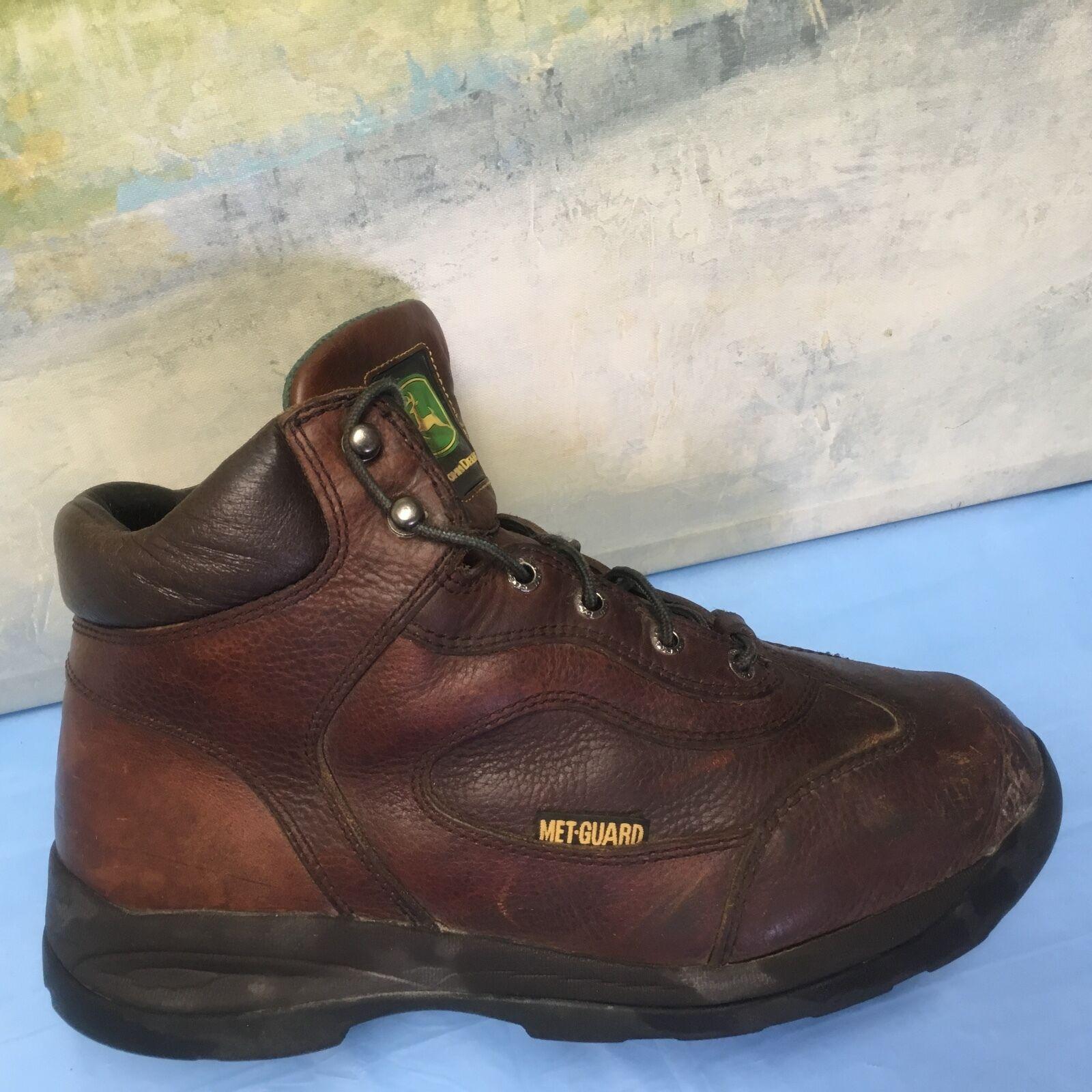 John Deere steel toe MET GUARD boots US 10.5 M JD3664