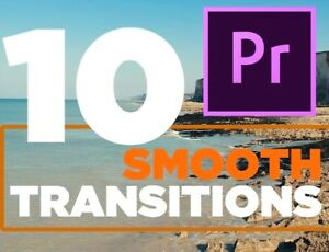 10 Smooth Transitions pack + 10 Whoosh Sound pack For Premiere Pro