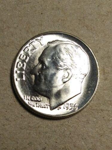 1956 P Roosevelt Dime CH//GEM BU Uncirculated 90/% Silver US Coin Original Roll