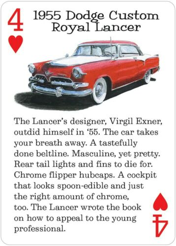 Suitable for most card games,Factual descriptions in deck,Classic American Rides