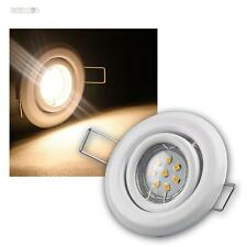 3er SET MR11 LED Einbaustrahler weiß je 8 Power SMD LEDs warmweiß, inkl. Trafo