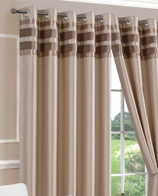 Ring Top Eyelet Curtains Denver Latte choice of sizes