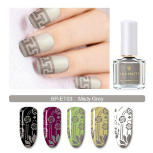 BORN-PRETTY-Stamping-Nail-Polish-Brown-Yellow-Blue-Nail-Art-Varnish-6ml