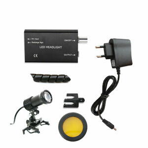 5W-LED-Head-Light-with-Orange-Filter-for-Dental-Loupes-Dentist-Headlight-w-Batte