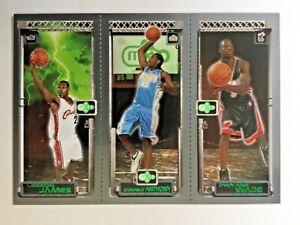 Lebron-James-2004-Topps-Matrix-M3-111-w-Wade-amp-Anthony-ROOKIE-CARD-RC