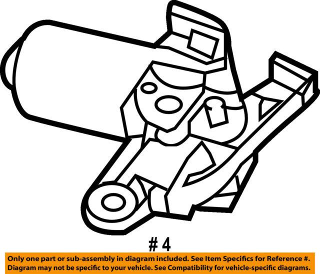 Ford Oem Windshield Wiper Motor Fl3z17508a Image 4 For Sale Online