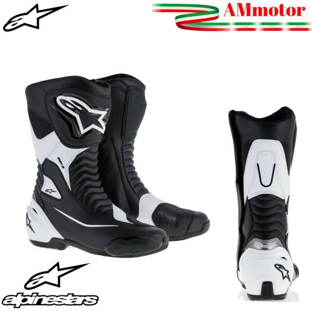 A-Pro Stivali Stivaletto Moto Sportivo Pelle Pista Professionale Traspirante Bianco 40